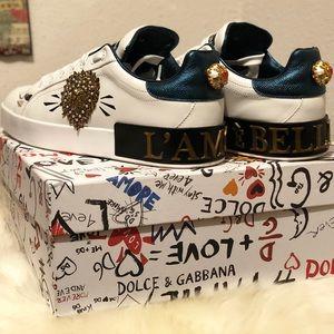 Dolce & Gabbana appliqué patch Portofino sneakers